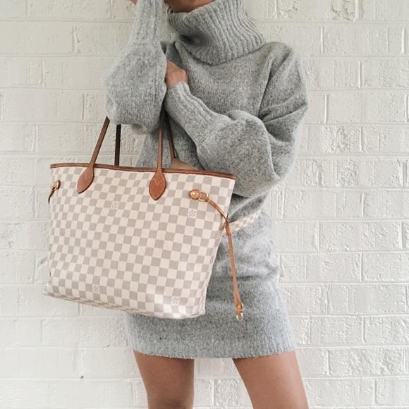 3d393af74224 Louis Vuitton Handbags - Louis Vuitton Neverfull MM Damier Azur bag